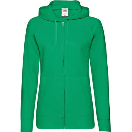 Lightweight Hooded Sweat Jacket Lady-Fit in Kelly Green von Fruit of the Loom (Artnum: F408