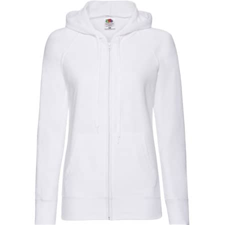 Lightweight Hooded Sweat Jacket Lady-Fit in White von Fruit of the Loom (Artnum: F408