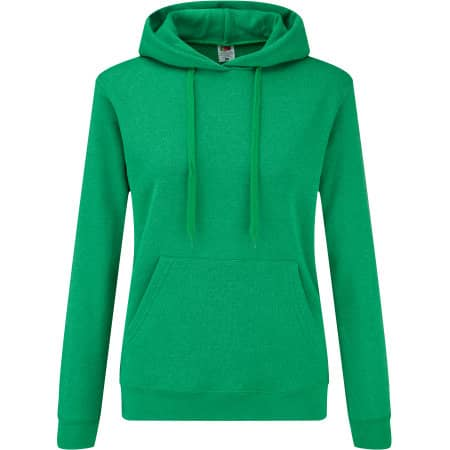 Classic Hooded Sweat Lady-Fit in Heather Green von Fruit of the Loom (Artnum: F409