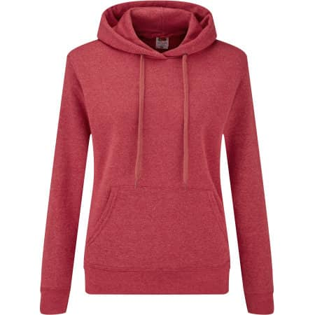 Classic Hooded Sweat Lady-Fit in Heather Red von Fruit of the Loom (Artnum: F409