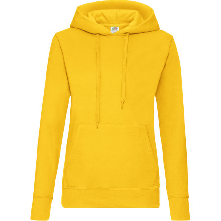 Classic Hooded Sweat Lady-Fit in Sunflower von Fruit of the Loom (Artnum: F409