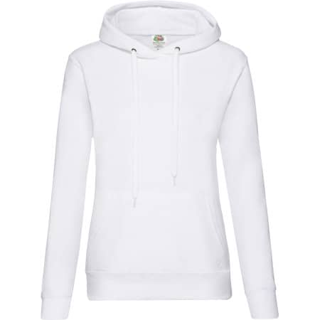 Classic Hooded Sweat Lady-Fit in White von Fruit of the Loom (Artnum: F409