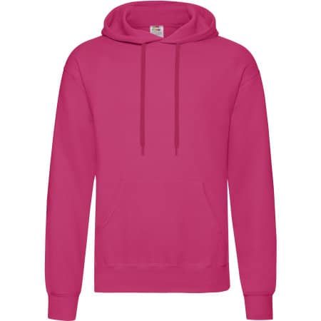 Classic Hooded Sweat in Fuchsia von Fruit of the Loom (Artnum: F421