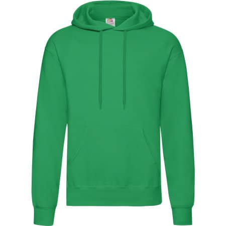 Classic Hooded Sweat in Kelly Green von Fruit of the Loom (Artnum: F421