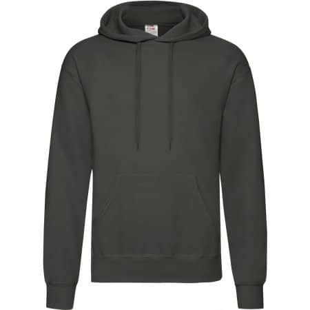 Classic Hooded Sweat in Light Graphite (Solid) von Fruit of the Loom (Artnum: F421