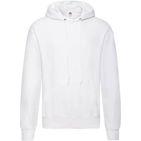 Classic Hooded Sweat in White von Fruit of the Loom (Artnum: F421