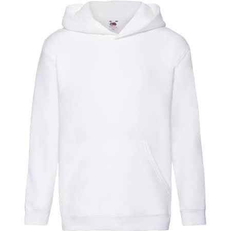 Premium Hooded Sweat Kids in White von Fruit of the Loom (Artnum: F421K