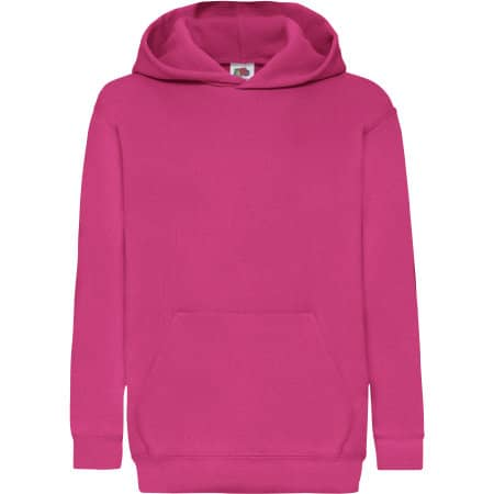 Classic Hooded Sweat Kids in Fuchsia von Fruit of the Loom (Artnum: F421NK