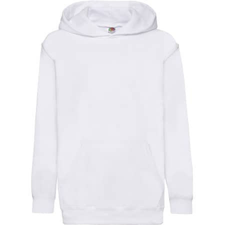 Classic Hooded Sweat Kids in White von Fruit of the Loom (Artnum: F421NK