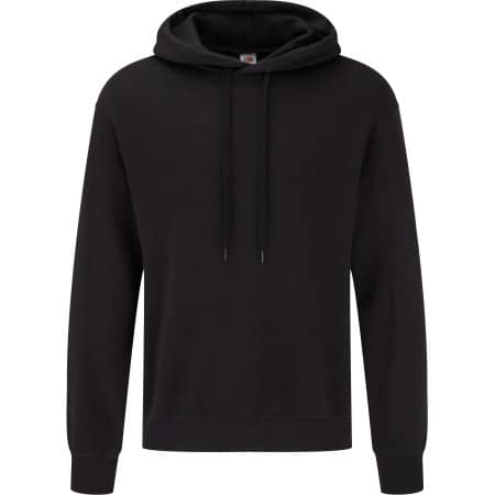 Classic Hooded Basic Sweat in Black von Fruit of the Loom (Artnum: F425