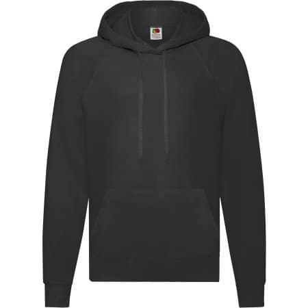 Lightweight Hooded Sweat in Black von Fruit of the Loom (Artnum: F430