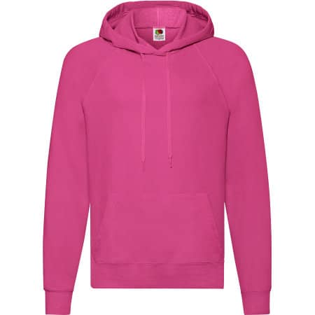 Lightweight Hooded Sweat in Fuchsia von Fruit of the Loom (Artnum: F430