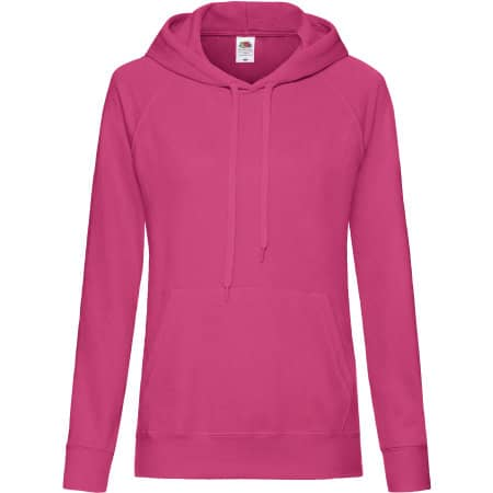 Lightweight Hooded Sweat Lady-Fit in Fuchsia von Fruit of the Loom (Artnum: F435