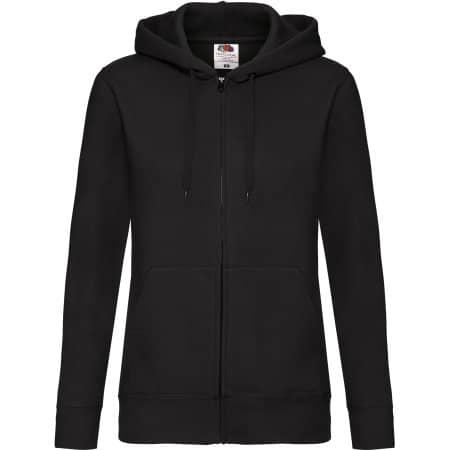 Premium Hooded Sweat Jacket Lady-Fit in Black von Fruit of the Loom (Artnum: F440N