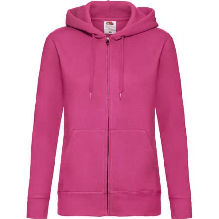 Premium Hooded Sweat Jacket Lady-Fit in Fuchsia von Fruit of the Loom (Artnum: F440N