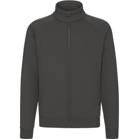 Premium Sweat Jacket in Light Graphite (Solid) von Fruit of the Loom (Artnum: F457