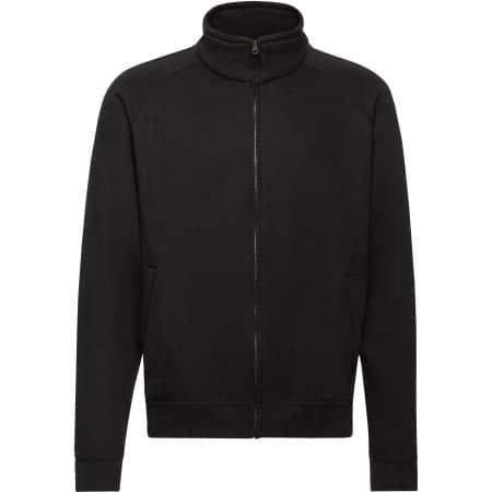 Classic Sweat Jacket in Black von Fruit of the Loom (Artnum: F457N