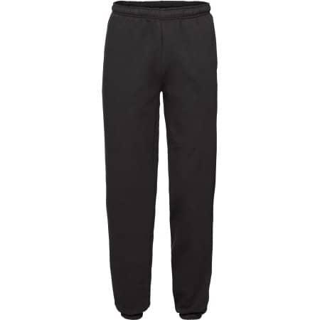 Premium Elasticated Cuff Jog Pants in Black von Fruit of the Loom (Artnum: F480N
