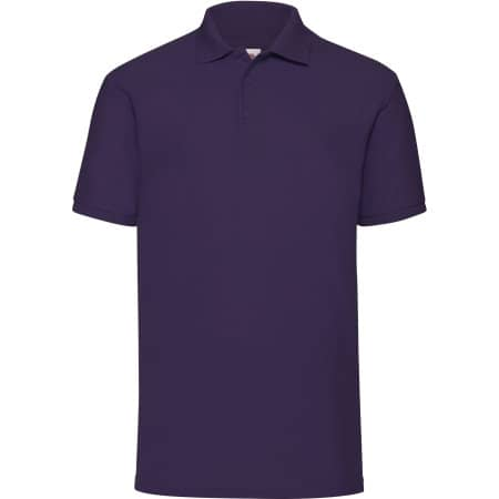 65/35 Piqué Polo in Purple von Fruit of the Loom (Artnum: F502
