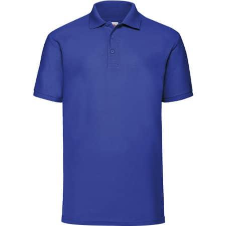 65/35 Piqué Polo in Royal Blue von Fruit of the Loom (Artnum: F502