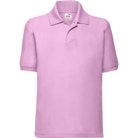 65/35 Polo Kids in Light Pink von Fruit of the Loom (Artnum: F502K