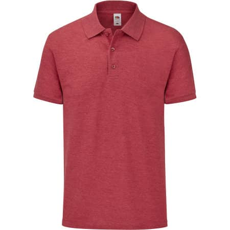 65/35 Tailored Fit Polo in Heather Red von Fruit of the Loom (Artnum: F506