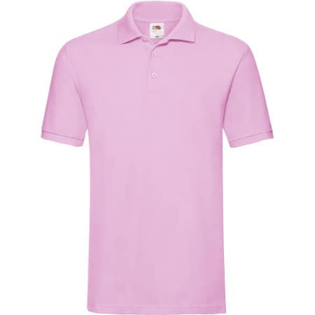 Premium Polo in Light Pink von Fruit of the Loom (Artnum: F511N