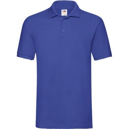 Premium Polo in Royal Blue von Fruit of the Loom (Artnum: F511N