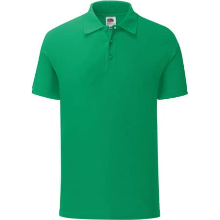 Iconic Polo in Kelly Green von Fruit of the Loom (Artnum: F512