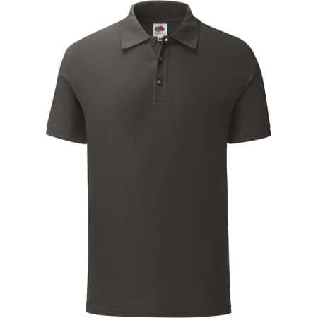 Iconic Polo in Light Graphite (Solid) von Fruit of the Loom (Artnum: F512