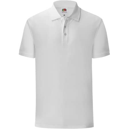Iconic Polo in White von Fruit of the Loom (Artnum: F512