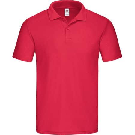 Original Polo in Red von Fruit of the Loom (Artnum: F513
