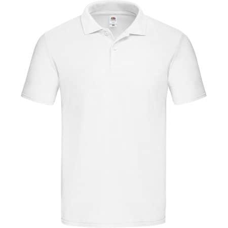 Original Polo in White von Fruit of the Loom (Artnum: F513