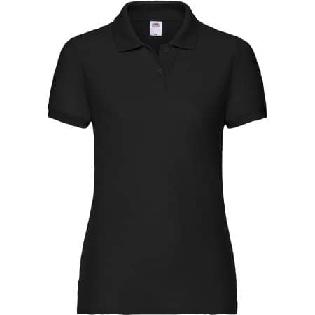 65/35 Polo Lady-Fit in Black von Fruit of the Loom (Artnum: F517
