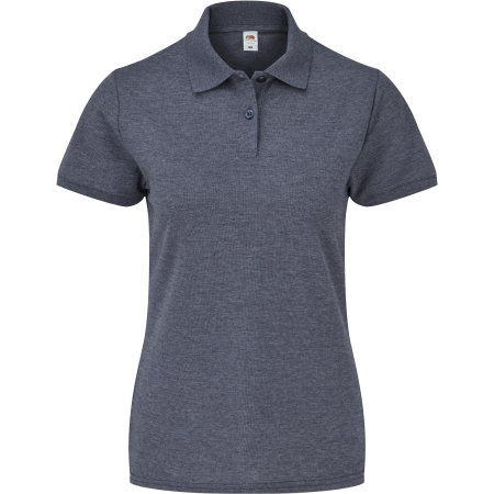 65/35 Polo Lady-Fit in Heather Navy von Fruit of the Loom (Artnum: F517