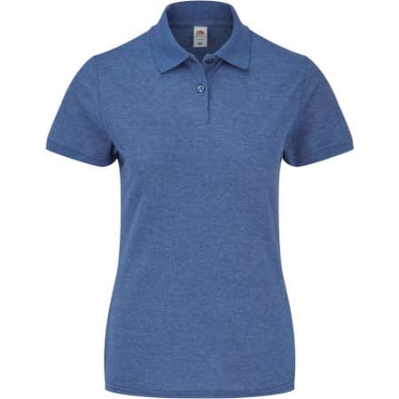 65/35 Polo Lady-Fit in Heather Royal von Fruit of the Loom (Artnum: F517