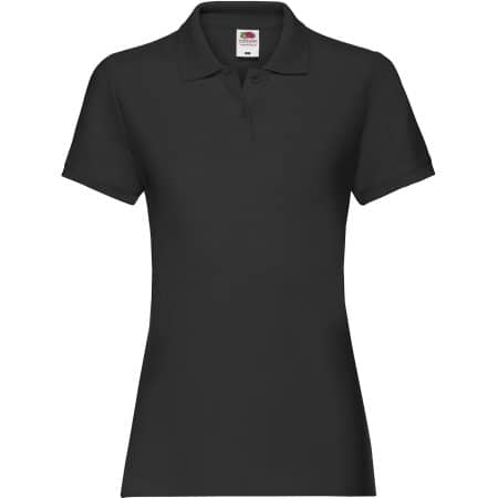 Premium Polo Lady-Fit in Black von Fruit of the Loom (Artnum: F520