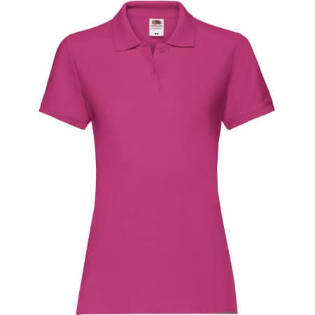 Premium Polo Lady-Fit in Fuchsia von Fruit of the Loom (Artnum: F520