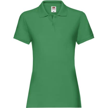 Premium Polo Lady-Fit in Kelly Green von Fruit of the Loom (Artnum: F520