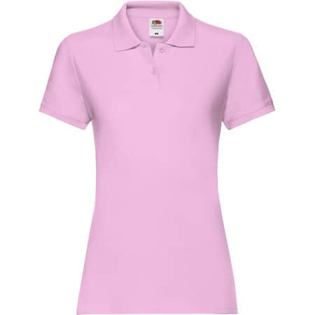 Premium Polo Lady-Fit in Light Pink von Fruit of the Loom (Artnum: F520