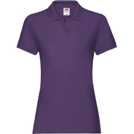 Premium Polo Lady-Fit in Purple von Fruit of the Loom (Artnum: F520