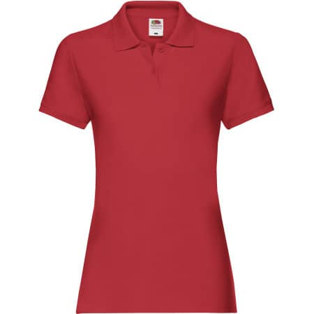Premium Polo Lady-Fit in Red von Fruit of the Loom (Artnum: F520