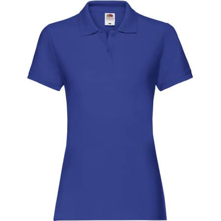 Premium Polo Lady-Fit in Royal Blue von Fruit of the Loom (Artnum: F520