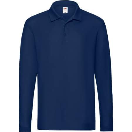 Premium Long Sleeve Polo in Navy von Fruit of the Loom (Artnum: F541N