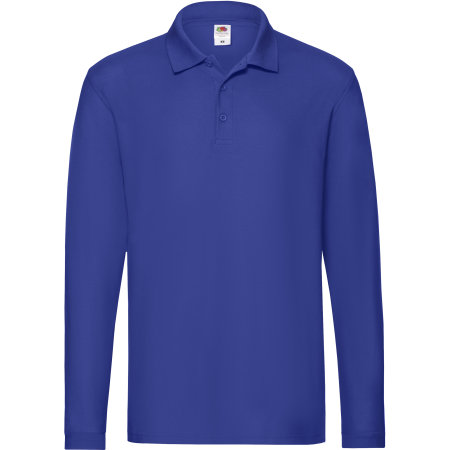 Premium Long Sleeve Polo in Royal Blue von Fruit of the Loom (Artnum: F541N