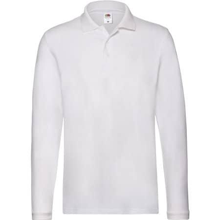 Premium Long Sleeve Polo in White von Fruit of the Loom (Artnum: F541N