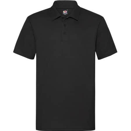 Men`s Performance Polo in Black von Fruit of the Loom (Artnum: F550
