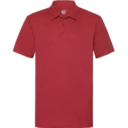 Men`s Performance Polo in Red von Fruit of the Loom (Artnum: F550