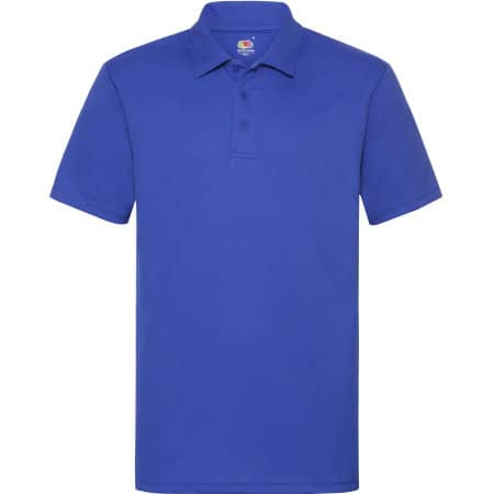 Men`s Performance Polo in Royal Blue von Fruit of the Loom (Artnum: F550