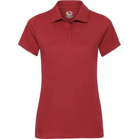 Performance Polo Lady-Fit in Red von Fruit of the Loom (Artnum: F551